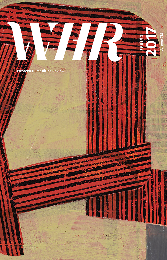 WHR Western Humanities Review Burckhardt Spring Cover